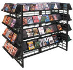 Slatgrid Up-right Mobile CD DVD Displays